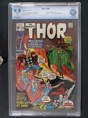 Thor #186 -MINT- CBCS 9.8 NM/MT - Marvel 1971 - Death of Silent One - HIGHEST!!!