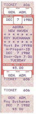 ROY BUCHANAN 1982 UNUSED TICKET Agora NEW HAVEN CT