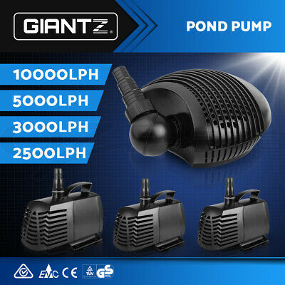 Aqua Aquarium Pump Submersible Water Fish Tank Fountain Pond Marine 2500-10000