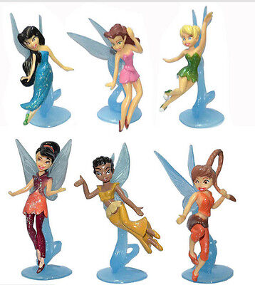 High Quality PVC 6pcs/set Tinkerbell Fairy Adorable tinker bell Figures for girl