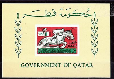 Qatar   1968   Olympic  Games  S/s    Mnh **   Very Fine!