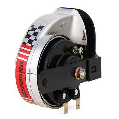 Car Boat Motorcycle Loud-Tone Electric Horn Waterproof Universal 115-125dB