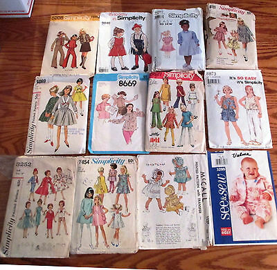 Box 4 Vtg 50pc Assorted Sewing Patterns Simplicity McCalls Buterick New Look Etc