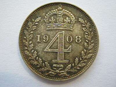 1908 Maundy Fourpence GEF