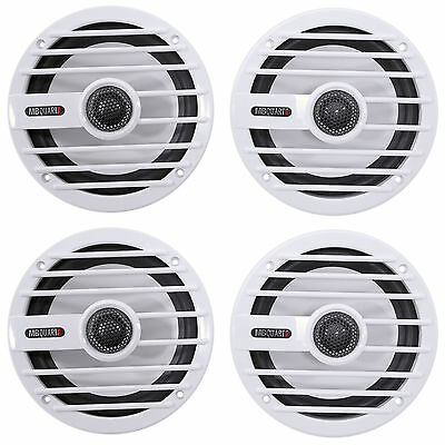 "(4) MB QUART NKF116 6.5"" 200 Watt 2-Way Nautic Marine Boat Audio Speakers White"
