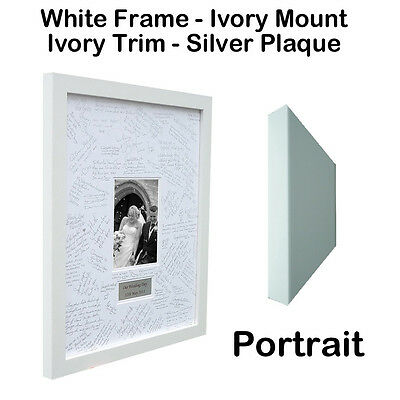 Luxury and Personalised Wedding Guest Book Frame – Double Mounted
