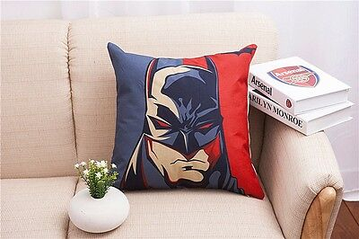 Cotton Linen Batman man Throw Pillow Case Cushion Cover sofa pillowslip 45cm