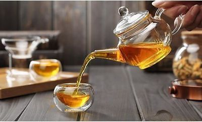 Heat Resistan Glass Teapot With Infuser Coffee Tea Leaf Herbal Pot 250ml ZP