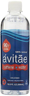 Avitae Caffeinated Water -90 Mg Caffeine - 16.9 Oz (Pack Of 12) - Bottled in USA