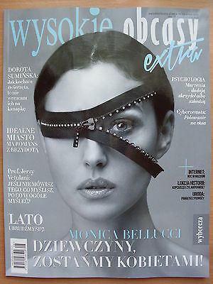 MONICA BELLUCCI on fron cover Polish Magazine WYSOKIE OBCASY Extra 8/2015