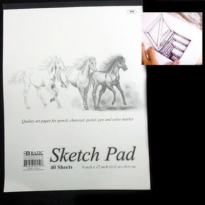 Sketchbook 9 x 12 Inches 40 Sheets Premium Quality Sketch Book Drawing Paper Pad