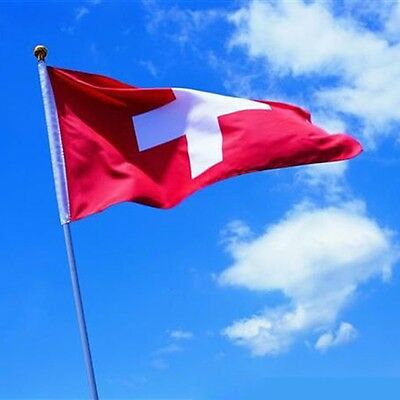 Flying wave 3x5 Feet Super-Poly Indoor/Outdoor Switzerland FLAG Country Banner