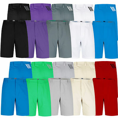 Adidas 2016 Puremotion Stretch 3-Stripes Mens Performance Golf Shorts