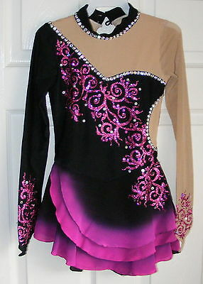 Ice Figure skating dress/Twirling outfit/Dance Costume Made to Fit Spanish-Style