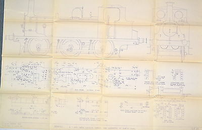 Boxhill 5 Inch Gauge Gage Lbsc Terrier Tank Locomotive Plans Drawings #rr927