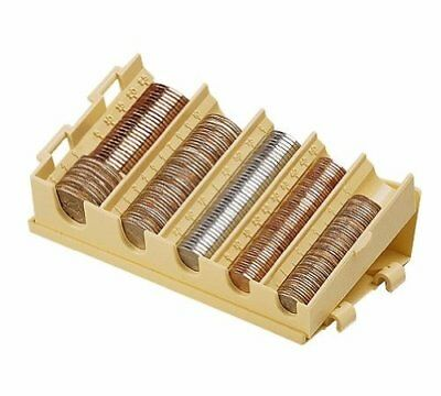 MMF Industries Compact Coin Organizer, 5 Compartments, Sand (221477703) New