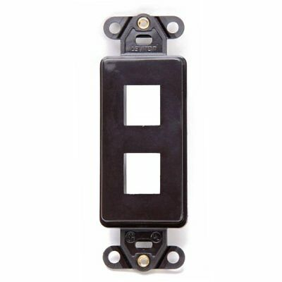 Leviton 41642-B QuickPort Decora Wall Plate Insert, 2-Port, Brown New