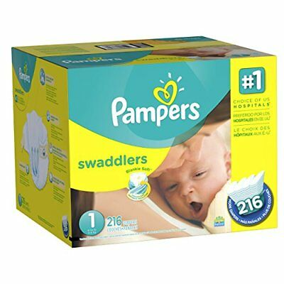 Pampers Swaddlers Diapers Size 1, 216 Count New
