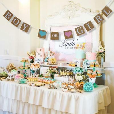 Boy Or Girl Bunting Banner for Baby Shower Party Garland Hanging Decoration