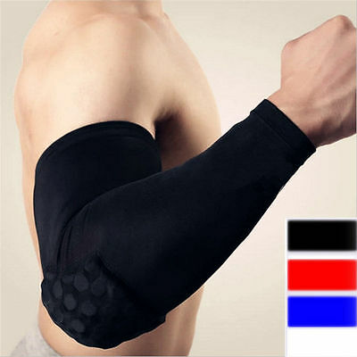 1 X Elastic Basketball Elbow Arm Brace Support Sleeve Pad Bandage Wrap Sports T7