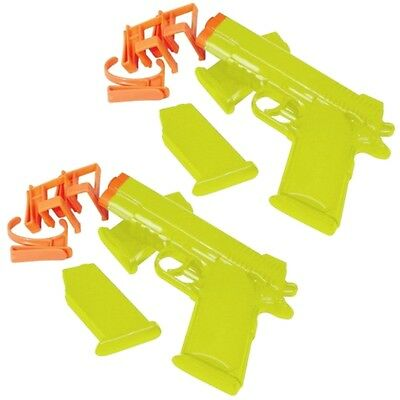 Set Of Two 2 Reloadable Water Pistols Guns With Belt Clips & Ammo Packs R05-008