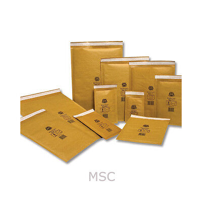 50 x Gold Padded Jiffy Envelopes JL4 A4 Size 240 x 320mm Genuine Airkraft