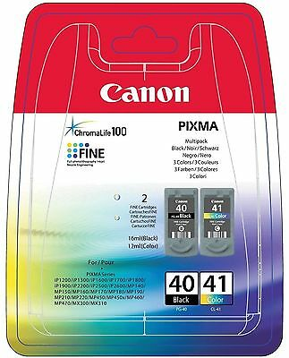 PG-40 CL-41 CARTUCCE ORIGINALI PER CANON Pixma MP190 0615B043