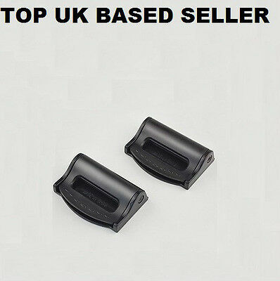 Pack Of 2 Car Seat Belt Comfort Strap Adjusters/supports/clips Safety Aid-Black