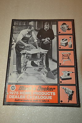 1975 Home products  BLACK & DECKER Dealer Catalog Power Tools  (JRW #077)