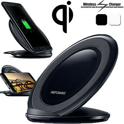 Qi Wireless Fast Charger Charging Stand Dock Holder For Samsung S6/S7/S7 Edge