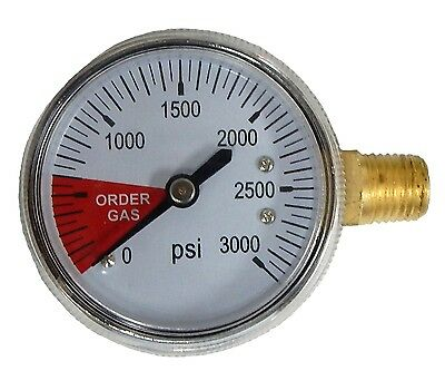 "Co2 Draft Beer High Side Regulator Gauge "" STAINLESS STEEL JACKET "" - 6603 -"