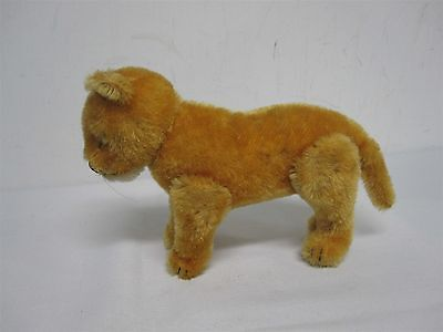 """Vintage Steiff Made Us Zone Germany 6 1/4"""" Mohair Lioness Lion ~ Jointed"""