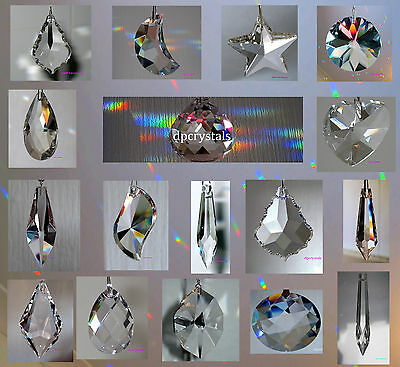 Suncatcher Hanging Crystal Drop Rainbow Prism Feng Shui Mobile Wind Chime