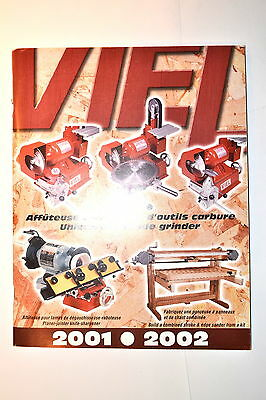 VIEL Canada CATALOG 2001-2002 lathe Grinder Sharpener  #RR414 English/French.