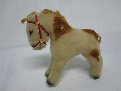 """Vintage Steiff Germany 5"""" Small Spotted Mohair Horse"""