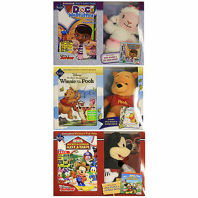 Disney Junior Kid Pack Plush Character Doll  + Book + DVD Holiday Bundle