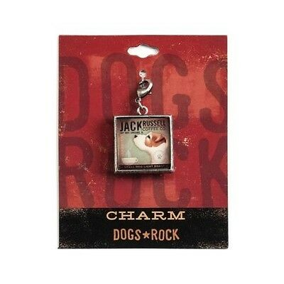 Dogs Rock Jack Russell Dog Charm with Lobster Clasp - Double-Sided