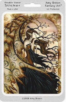 CONTEMPLATING SECRETS Fairy Sticker Car Decal Amy Brown goth gothic pagan faerie