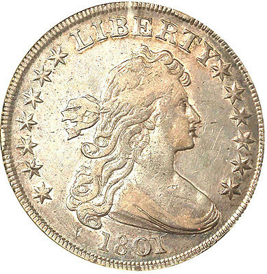 1801 $1 Xf40 Anacs-Draped Bust - Must L@@k////