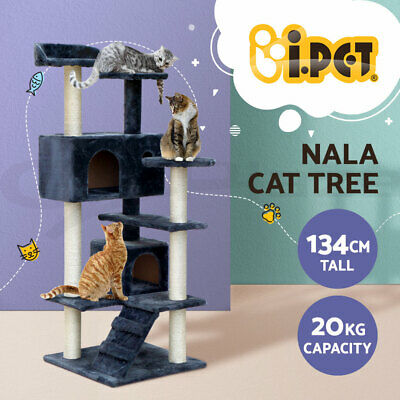 Cat Scratching Tree Post Scratcher Pole Furniture Gym House Toy Small 134cm BE