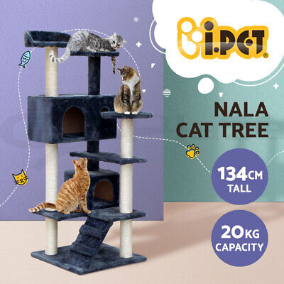 i.Pet Cat Scratching Tree Scratcher Post Pole Furniture Gym House Toy 134cm