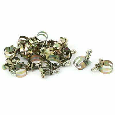 15mm Diameter T Bolt Water Gas Tube Hose Clamp Bronze Tone 20pcs