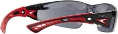 Bolle Rush+ Platinum Anti Scratch / Fog Safety Glasses Smoke Polycarbonate Lense
