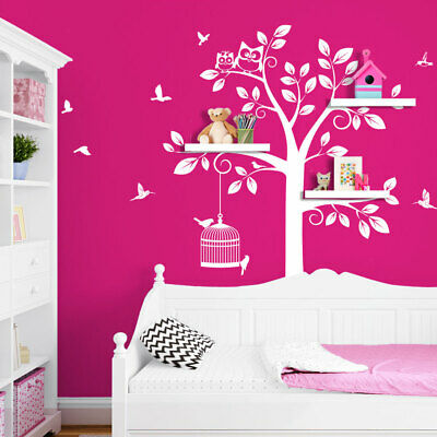 wandtattoo baum xxl wandsticker eule wandaufkleber deko. Black Bedroom Furniture Sets. Home Design Ideas