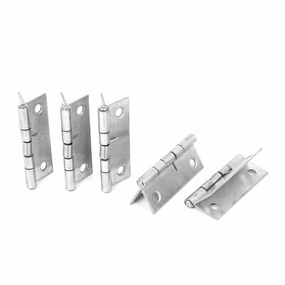 Cabinet Drawer Door Spring Loaded Stainless Steel Hinges 50mmx37mm 5pcs