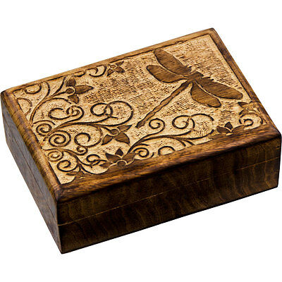 DRAGONFLY Wood Box for Tarot, Crystals, Jewelry, Trinkets, etc.!