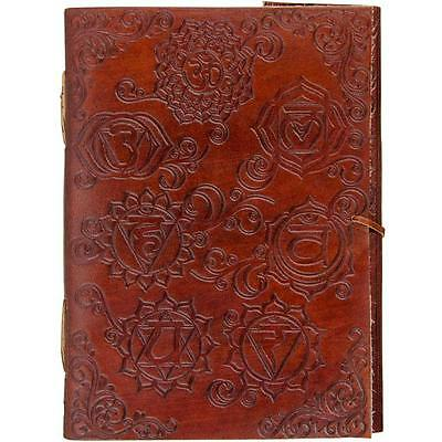 "5""x7"" Leather CHARKRA Book of Shadows with Corded Closure"