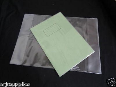 6 x  A4 SCHOOL EXERCISE BOOK COVERS 298mm x 425mm clear plastic reusable!