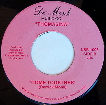 THOMASINA: Come Together / I'm Trying So Hard 45 Hear! Soul