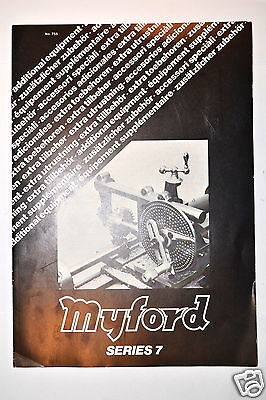 MYFORD LATHE SERIES 7 ACCESSORIES ADVERTISEMENT Brochure #RR242
